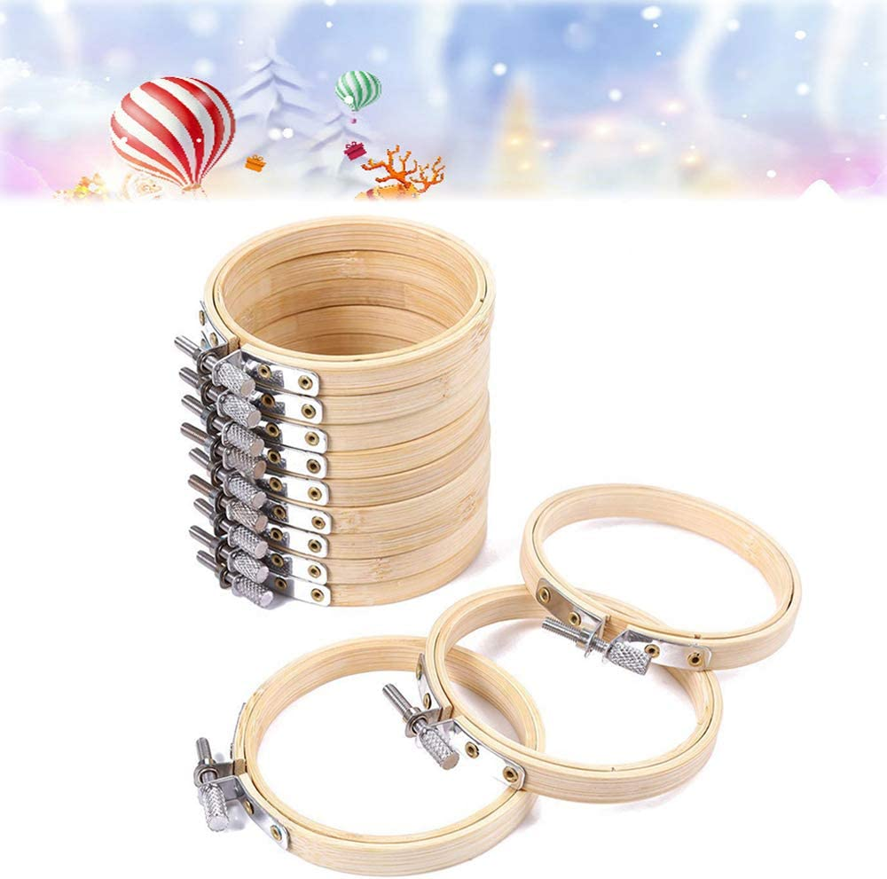 glacely 18 Pieces 4 Direct sale of manufacturer Inch Bamboo Stitch Cheap mail order sales Cross Hoop Ro Circle Ring