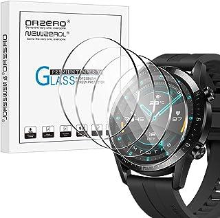 NEWZEROL 4-pack kompatibla med Huawei Watch GT 2 (46 mm version) härdat glas skärmskydd högupplöst härdat glas skärmskydd ...