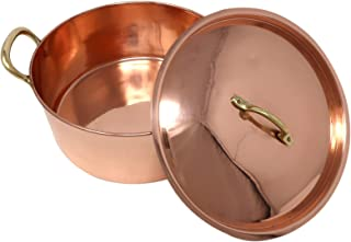 ShalinIndia Palin Copper cookware pot with two handles and lid elegant kitchen utensils Capacity 4400 ML
