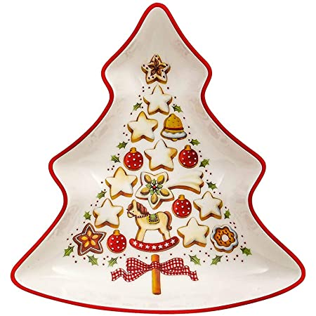 Arbre Pain d/'/épices comme D/écoration 8 x 8 x 15/cm Marron Villeroy /& Boch Porcelaine Dure Blanc, Winter Bakery Decoration Petit Arbre en Pain d/'/épices