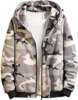 Men's Camouflage Sport Hooded Coat Jackets Autumn Casual Long Sleeve Zipper Pockets Fashion Thin Outdoor Coat Daorokanduhp