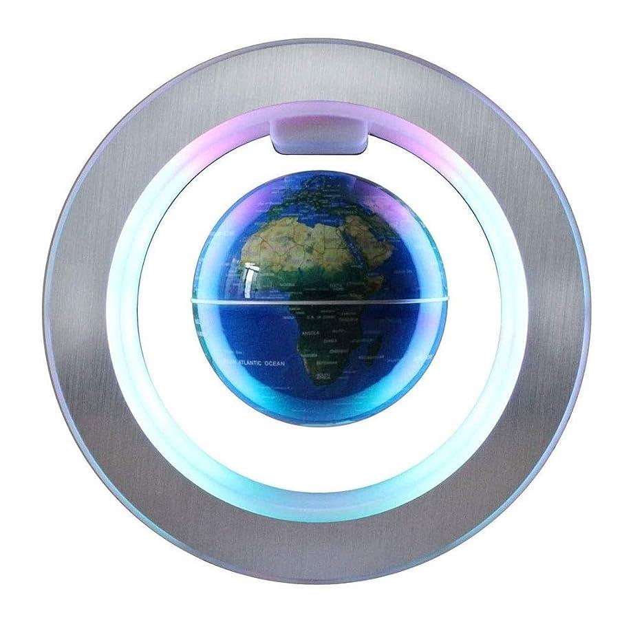つかいますオン満足させるLMCLJJ LEDライト装飾が施された浮動磁気浮上グローブ回転世界地図地球儀