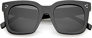 zeroUV - Retro Oversized Square Sunglasses for Women with...