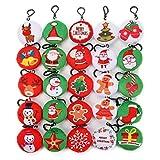 KINGSO Mini Emoji Christmas Ornaments Plush Pillow Emoticon,Christmas Decorations Party Home Decoration and Party Favor (25pcs Christmas Emoji)