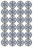 24 adornos comestibles de papel de arroz con diseño de copo de nieve de alta calidad, vainilla endulzada, obleas de papel de arroz
