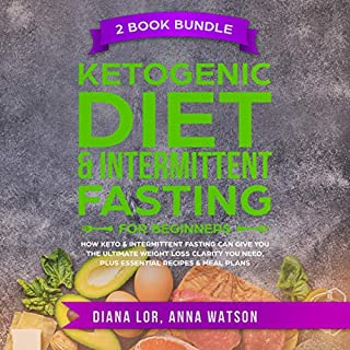 Ketogenic Diet & Intermittent Fasting for Beginners, 2 Book Bundle audiobook cover art
