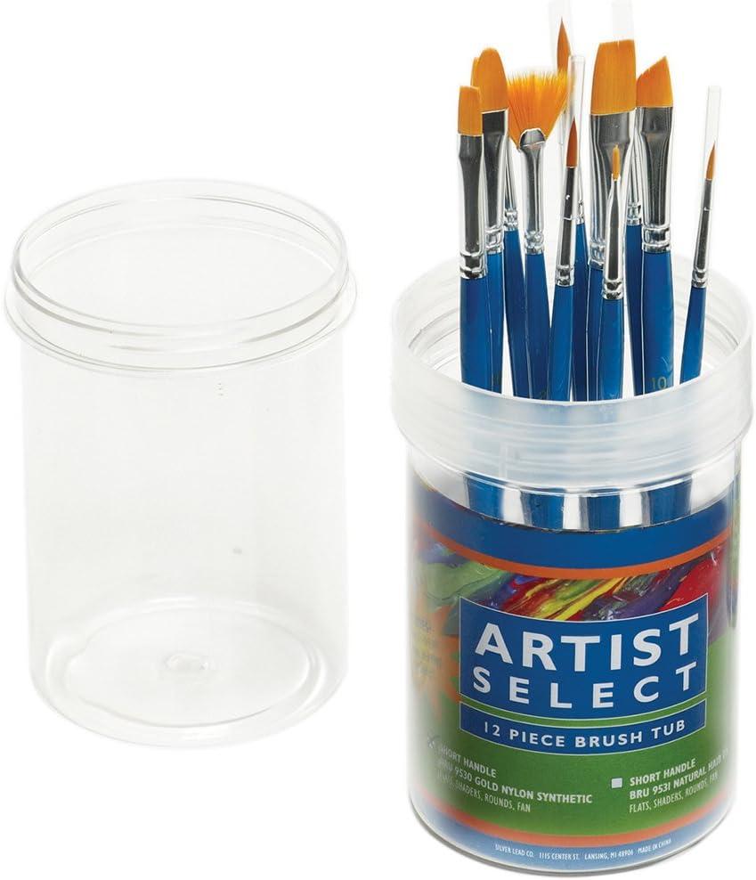 5% OFF Seasonal Wrap Introduction Pro-Art Artist Select Short Handle Colors Tub Assorted Go Brush