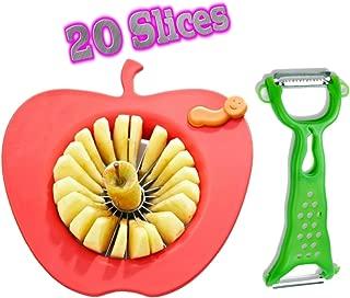 Corer Slicer Peeler and Divider Set Cuts 20 Thin Apple Slices for Kids Onion Slicer for Vegetables Tomato Potato Slicer with Bonus Julienne Peeler Slicer Zester Kitchen Gadgets