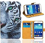 Samsung Galaxy Grand Neo / Grand Neo Plus Handy Tasche, FoneExpert® Wallet Hülle Flip Cover Hüllen Etui Ledertasche Lederhülle Premium Schutzhülle für Samsung Galaxy Grand Neo / Grand Neo Plus (Pattern 6)