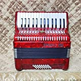 32 bajo 30 teclas acordeón teclado acordeón para principiantes y jugadores profesionales (rojo)
