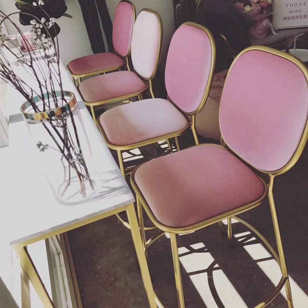 Chaise de Salle à Manger Iron Bar Tabouret de bar Café simple Restaurant Chaise haute Dessert Shop Boutique de thé Tabouret de dos (Color : White) Gray