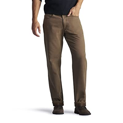 Lee Fleece and Flannel Lined Relaxed Fit Straight Leg Jeans