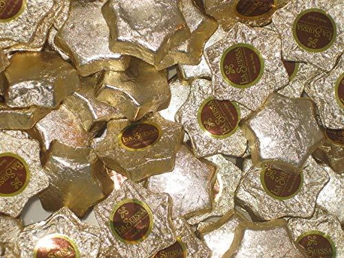 Cioccolatini Stelle Dorate La Suissa Kg 1 - Praline di Cioccolato al Latte Ripiene di Morbida Crema Gianduia - Senza Glutine