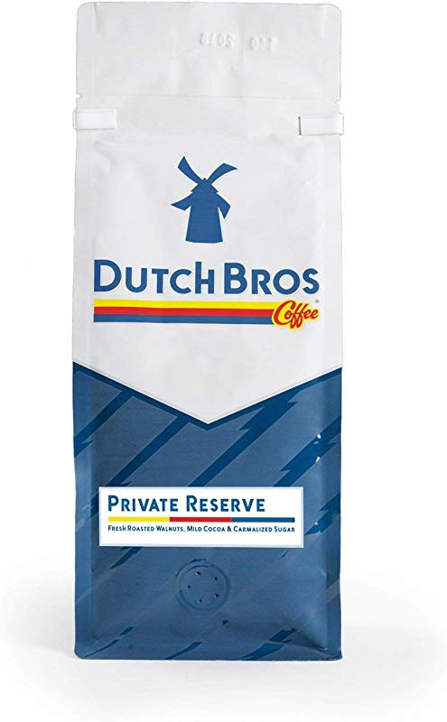 Dutch Bros Coffee Ground Private Reserve Three Bean Blend Extra Bold Medium Roast 100 Arabica Coffee Beans 1lb Bag