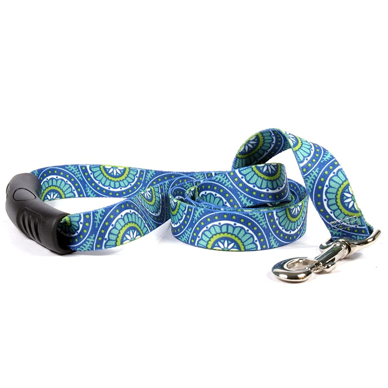 Yellow Dog Design Radiance Blue EZ Grip Lead, 1-Inch by 60-Inch