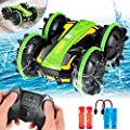 Amphibious Remote Control Car for Boys 5-12, Waterproof 2.4 GHz Remote Control Boat for Kids, All Terrain RC Stunt Car Off Road 4WD Remote Control Vehicle, Water Beach Pool Toy Christmas Birthday Gift from AOJOYS