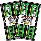 A-Tech RAM 32GB (4x8GB) DDR3 / DDR3L 1600 MHz DIMM PC3L-12800 / PC3-12800 (PC3L-12800U) CL11 2Rx8 1.35V Non-ECC UDIMM 240 Pin - Desktop PC Computer Memory Upgrade Kit