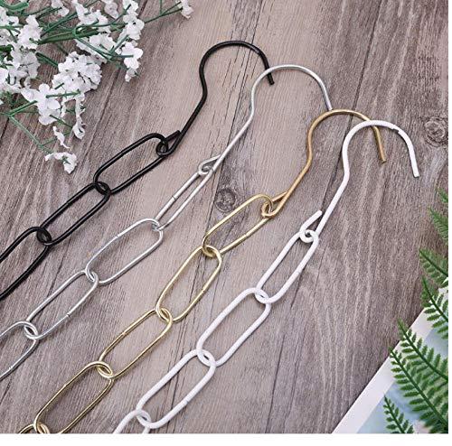 Marktwinkel Metalen Hanging Hanger Display Connector Strip Kleding Rack Haak Ring Stabiele Ketting Thuis Closet Organizer Ruimte Bespaar 10 stks Willekeurige Kleur