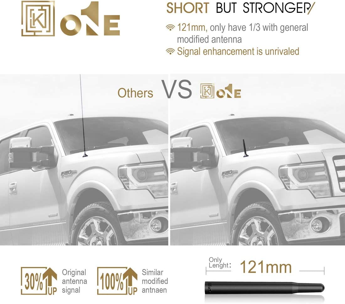 KEYO1E 4.8 AM//FM Short Antenna Compatible with 09 to 21 F150