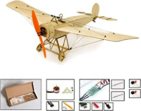 Greatangle K8 Micro Balsawood Airplane Kit Fokker-E Aircraft Model 378mm Wingspan Avión de Control Remoto eléctrico para Interior Park Fly