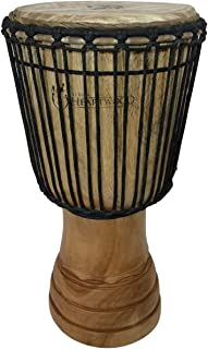 """طبل دست ساز جیمبه از آفریقا - 11 """"x22"""" Heartwood Djembe کلاسیک (آدی-دااس حک شده)"""