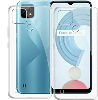 Phone Case for Oppo Realme C21Y (6.50 Inch), KJYF Shockproof Shell Bumper for Oppo Realme C21Y, Anti-Scratch Clear Back Co...
