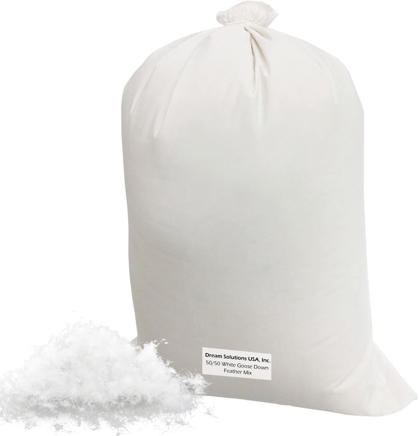 Bulk Goose Down Filling (6 lbs) 50/50 100% Natural White Down an