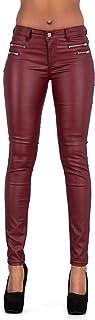 Crazy Lover Hochwertige Damenhosen, Glatte Damen Hose, Frauen Kunstlederhose, PU Lederhose Jean