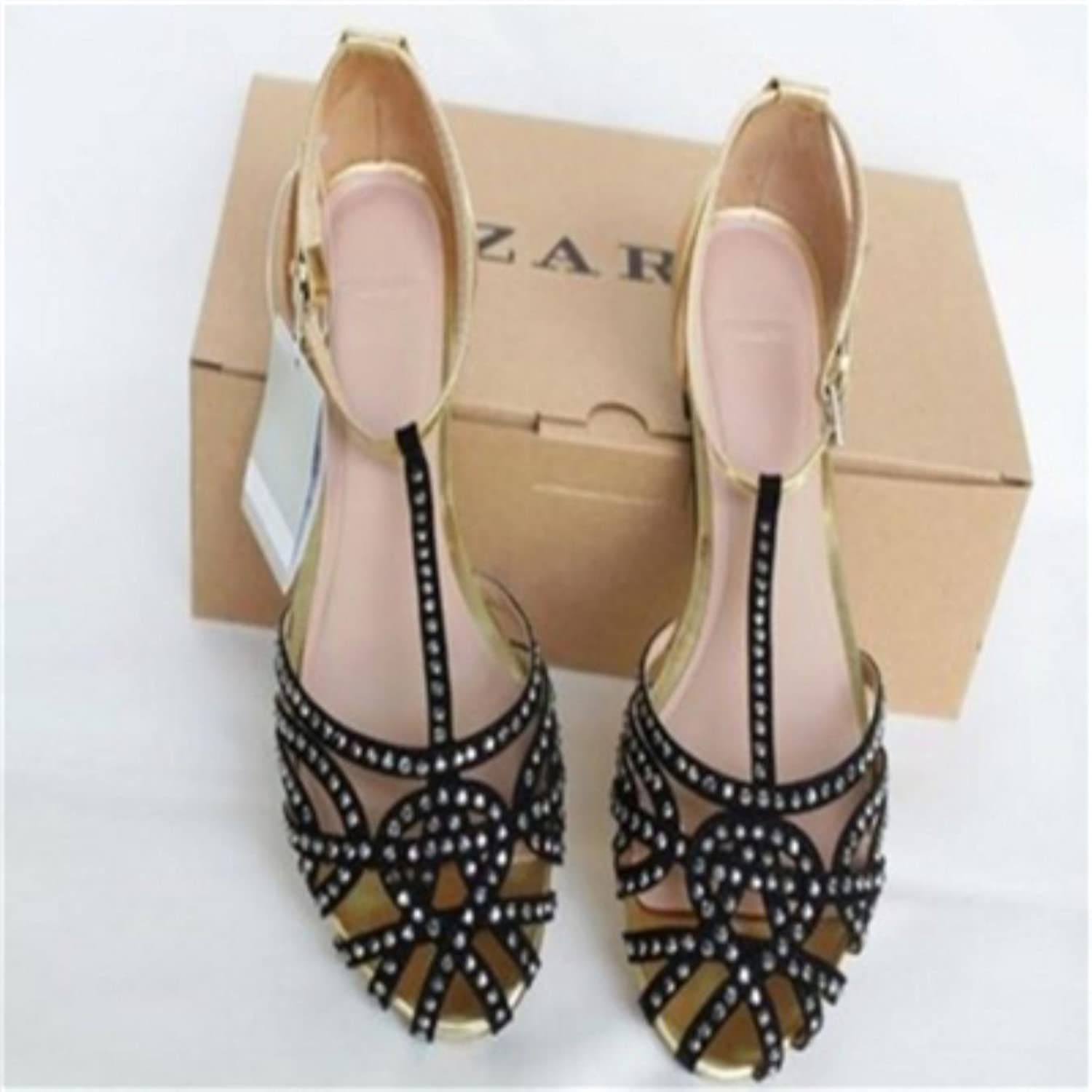 Woman new arrivals cutout fashion the sandals summer shoes rhinestone Hollow shoes
