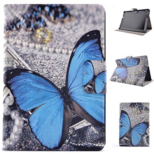 LMAZWUFULM Hülle für Amazon Kindle Fire HDX 8.9 (8.9 Zoll) PU Leder Magnet Sleep/Wake Funktion Lederhülle Schmetterlings-Traum MusterStent-Funktion Flip Cover