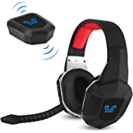 HUHD PS4 Wireless Game Headset 2.4GHz USB Optical Wireless Gaming Headphones with 7.1 Surround...