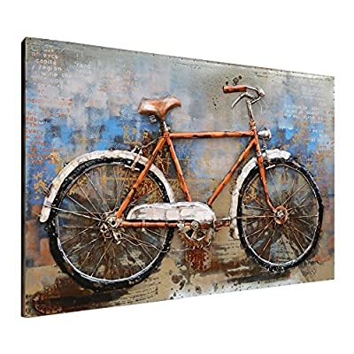 Asmork 3D Metal Art - 100% Handmade Metal Unique Wall Art - Stereograph Oil Painting - Home Decor - Ready to Hang Sculpture Artwork 3D Picture from Asmork