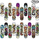 BETOY Monopatines para Dedos, 20PCS Juguete Monopatín Mini Diapasón Patineta Skateboard Fingerboard Juegos de Deportes Niños, Recompensas por Lecciones Escolares (Color Aleatorio)