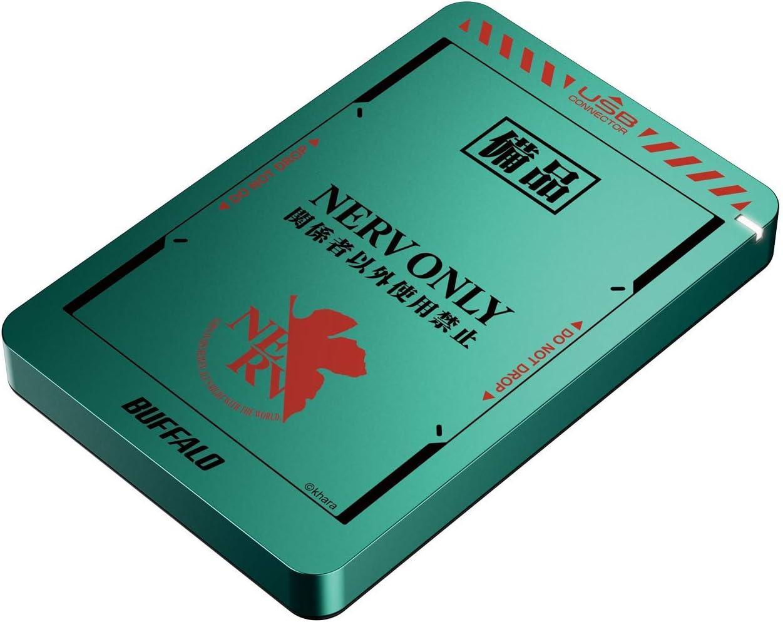「エヴァンゲリオン」×「バッファロー」コラボ ポータブルHDD USB3.2(Gen.1)対応 耐衝撃ポータブルHDD 1TB HD-PGF1.0U3/NRV