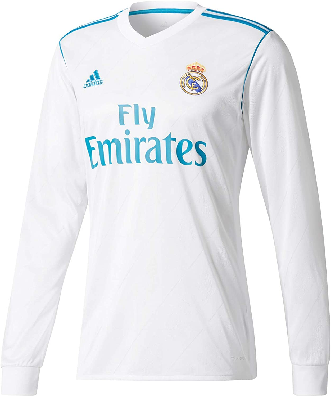 adidas H JSY Y LS Camiseta 1ª Equipación Real Madrid 2017-2018 Niños: Amazon.es: Ropa y accesorios