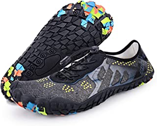 LadyRosian Mesh Slip Quick Drying Barefoot Aqua Water Shoes Upstream Shoes for Beach Swim Water Sports