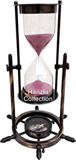 Vintage Brass Sand Timer Handcrafted Brass Hourglass 10
