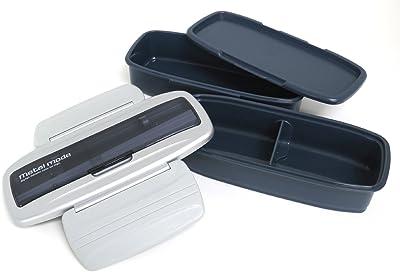 オーエスケー メタルモードNo.3 お弁当箱 2段 保冷バッグ付 シルバー BLW-8HSF