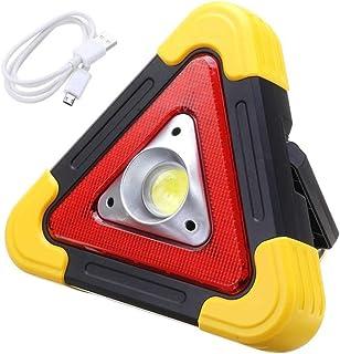 LED Solar Work Light Outdoor Portable Rechargeable Emergency Light Solar Flood Light Triangle Emergency Warning Light for ...