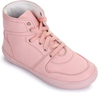 Bruno Manetti Kids Unisex Pink Synthetic Leather Sneakers
