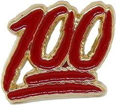100 lapel pin
