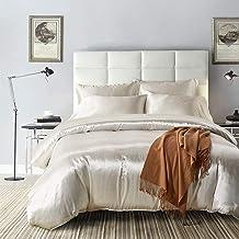 مجموعة أغطية سرير QN ناعمة مسامية من الحرير الصناعي، مجموعة غطاء لحاف 100% من الألياف الدقيقة (غطاء لحاف + 2 كيس وسائد)، م...