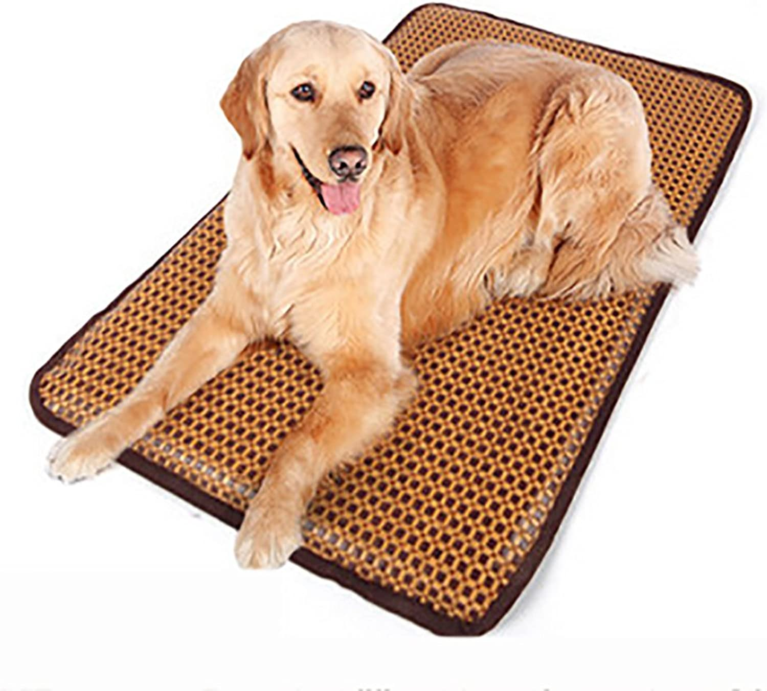 MEIQI Dog Crate Mat Summer Pet Mat Soft Nylon bluee Dog Puppy Cat Cool Ice Mat Pad Dog Bed Cooling Sleeping Kennel Bed Washable NonToxic Travel Mat