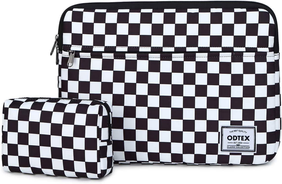 ODTEX Computer Sleeve for 13 inch Laptop Compatible with 13.3 inch MacBook Pro,MacBook Air,13 inch XPS Dell,Notebook-Checkerboard