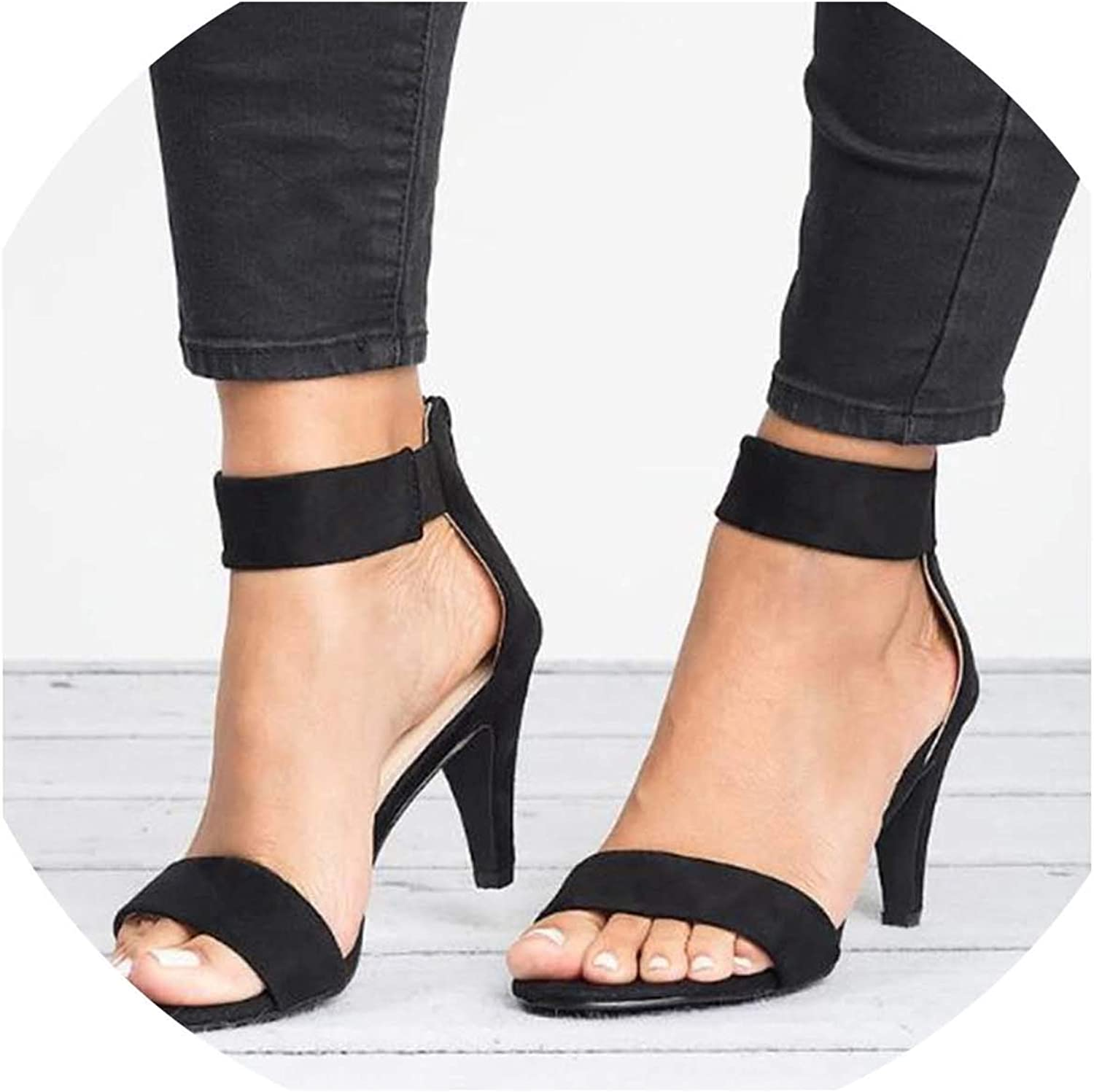 HuangKang Fashion Woman Summer Sandals Stretch Fabric Heel shoes Sexy Lady Fashion Party Queen Sandal