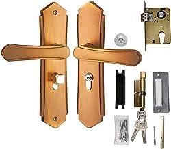 Deurslot 1 Set Vintage Deur Lock Style Retro Slaapkamer Deurgreep Lock Interieur Kamer Veiligheid Deurslot Geel Duurzaam