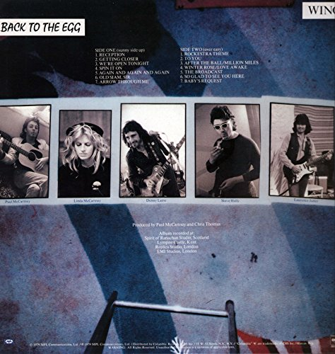 Wings - Back To The Egg - Columbia - FC 36057, MPL Communications - FC 36057