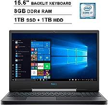 2019 Newest Dell G5 15 5590 15.6 Inch FHD 1080p Gaming Laptop (Inter 6-Core i7-9750H up to 4.5GHz, 8GB DDR4 RAM, 1TB SSD (Boot) + 1TB HDD, GeForce GTX 1660 Ti 6GB, Backlit KB, Webcam, Windows 10)