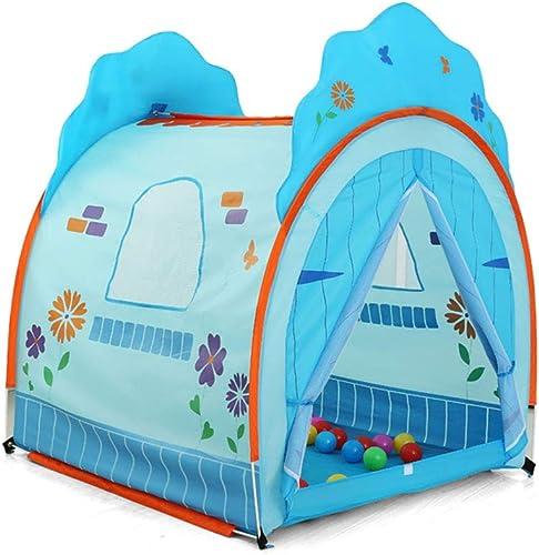 Kinder Spielen Zelt Baby Spielen Haus Indoor-Freizeitpark Spielzeug Haus (Farbe   Blau, Größe   117  105  135cm)