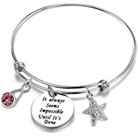 Luvalti Inspirational Gifts Women Stainless Steel Bracelet Bangle